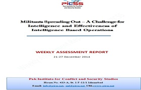 Militants Spreading Out – A Challenge for Intelligence and Effectiveness of Intelligence Based Operations