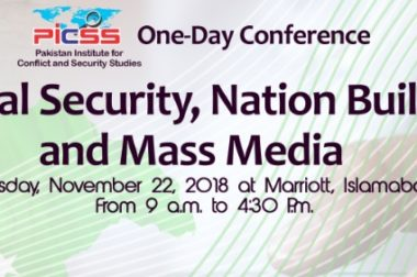 "One-Day Conference on ""National Security, Nation Building and Mass Media"" on 22nd November 2018"